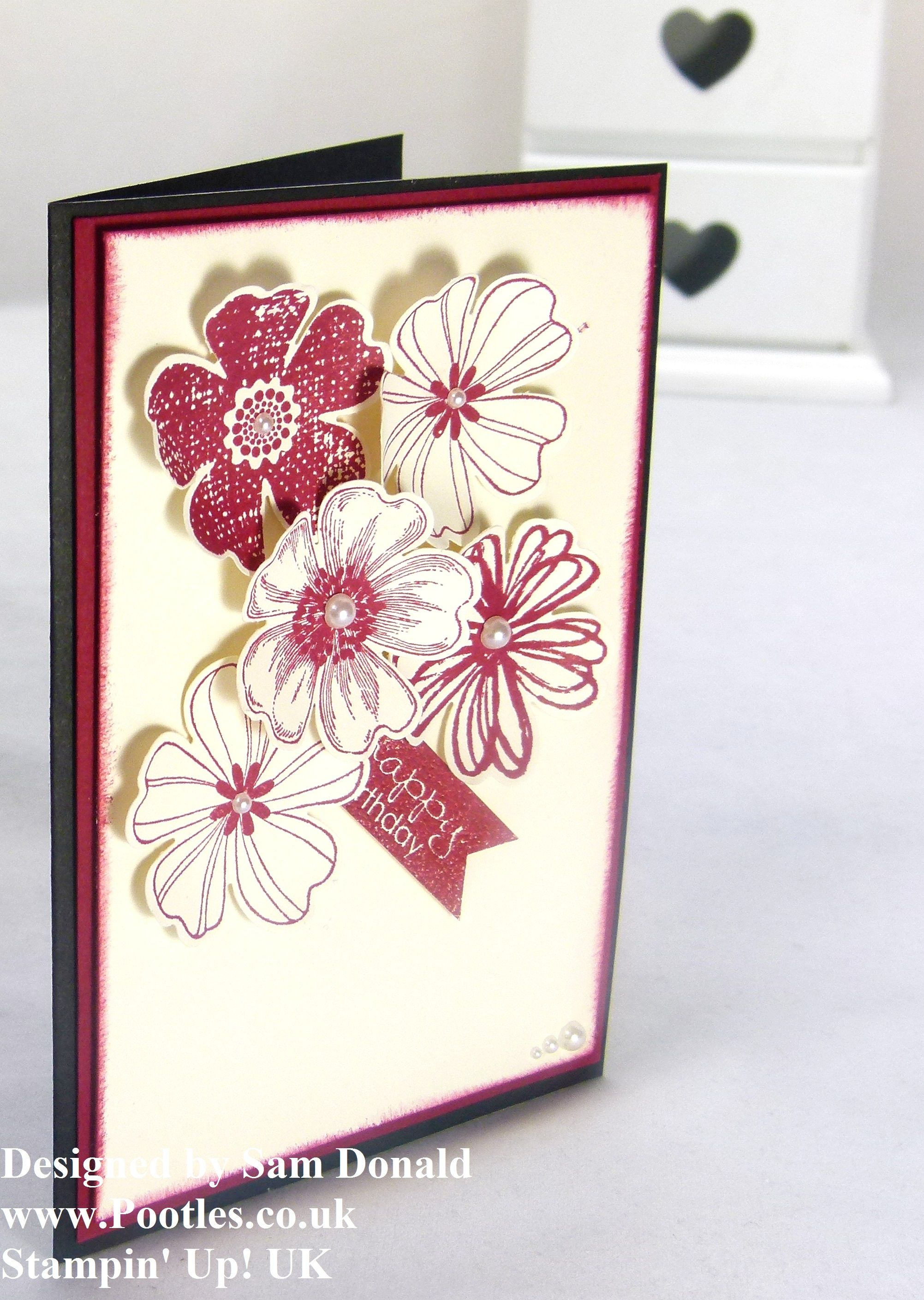 Pootles Stampin Up UK Bunch Of Birthday Flowers 2