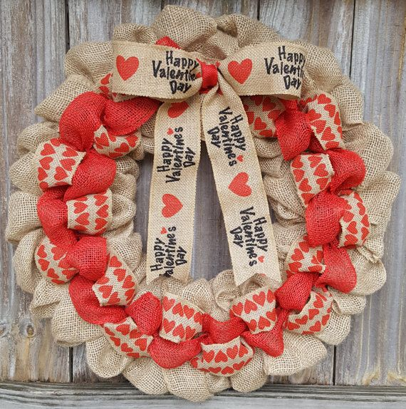 Valentine's Day Wreath Valentines Day by TwinAngelsWreaths on Etsy