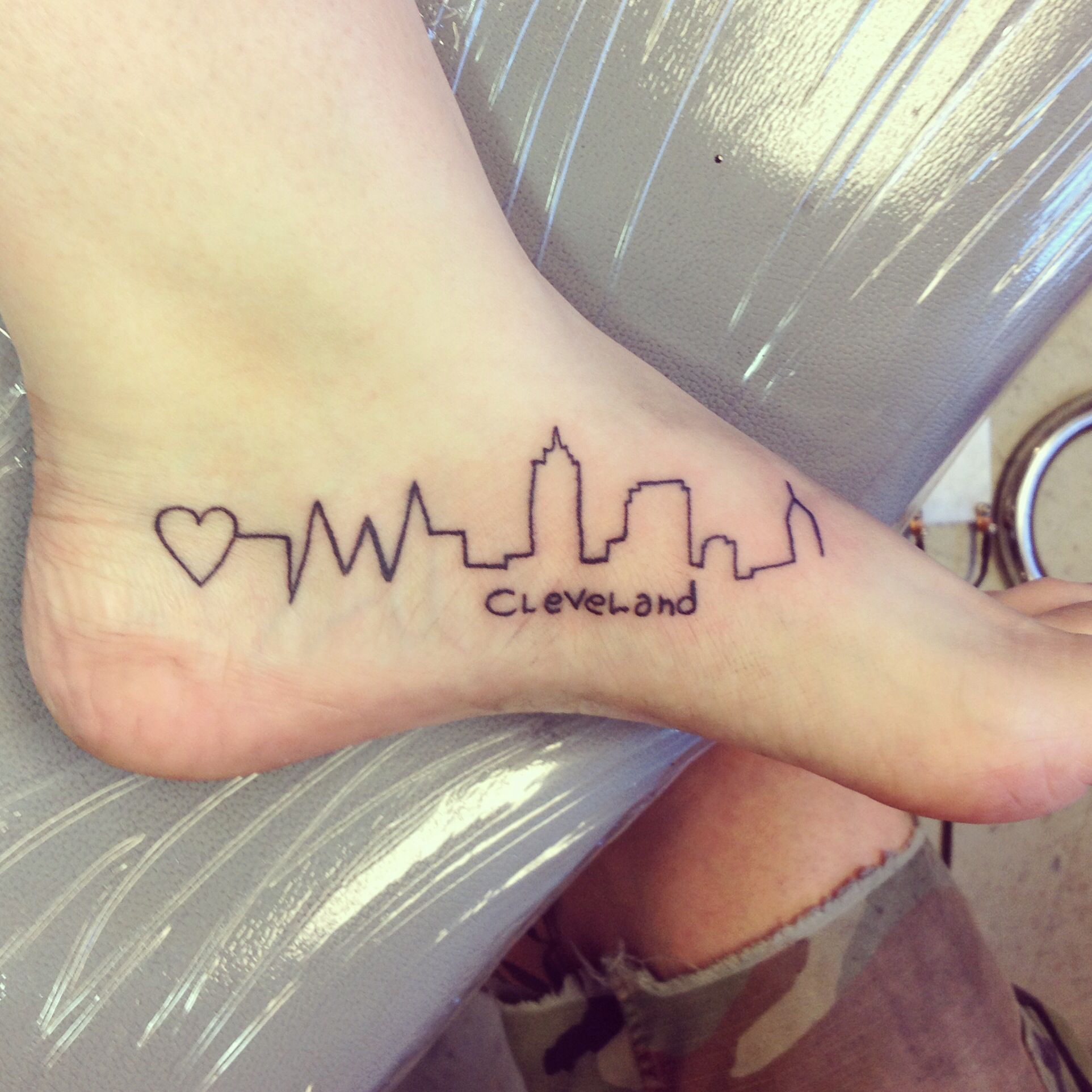 cleveland ohio foot tattoo skyline cleveland