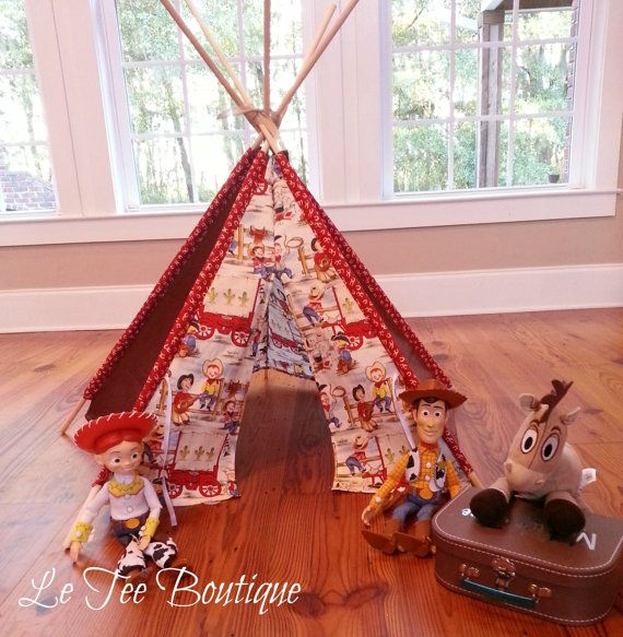 TeeePee Play Tipi Cowboy Boy Play Tent Christmas Gift Hut Fort Toy Playhouse Story Time on & TeeePee Play Tipi Cowboy Boy Play Tent Christmas Gift Hut Fort Toy ...