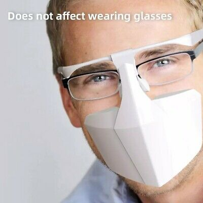 Face Mouth Shield Protection Glasses Wearable Anti-Saliva Dust-Proof Anti-Fog