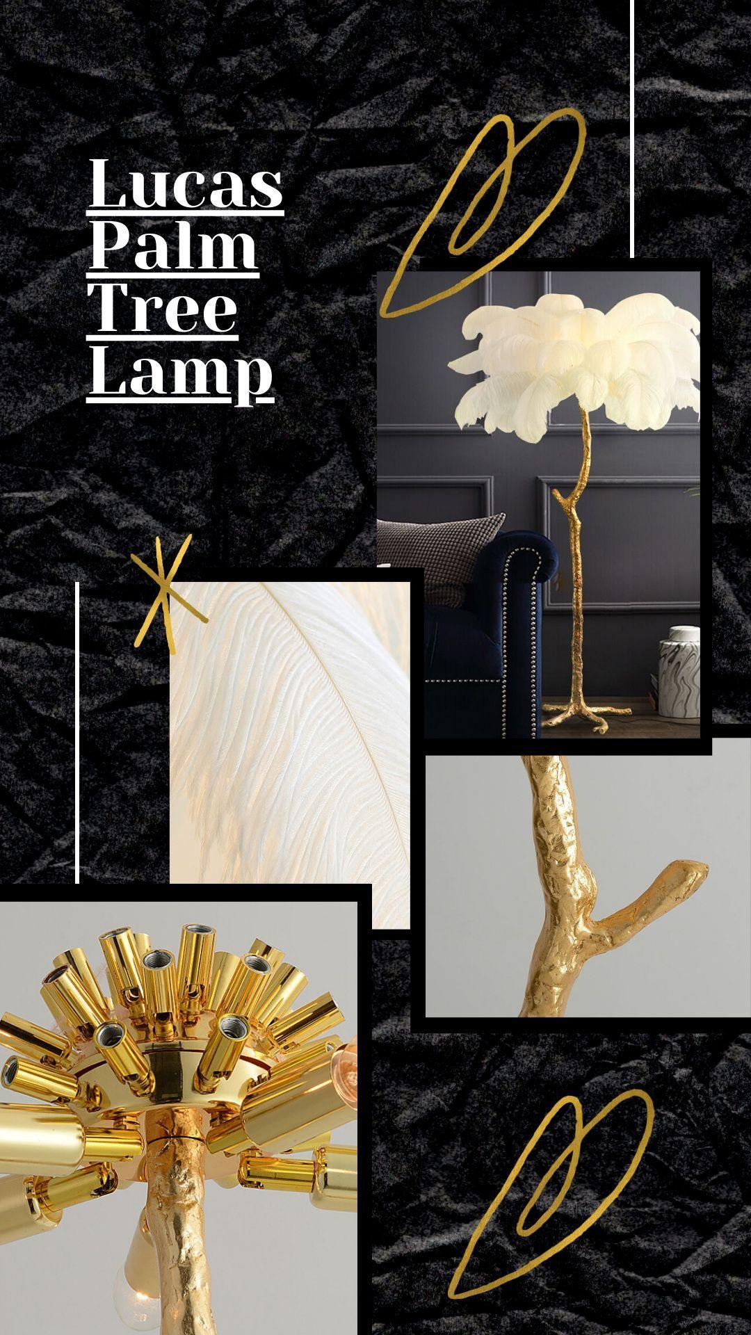 Lucas Palm Tree Lamp In 2020 Tree Lamp Beautiful Floor Lamps Unusual Lamps