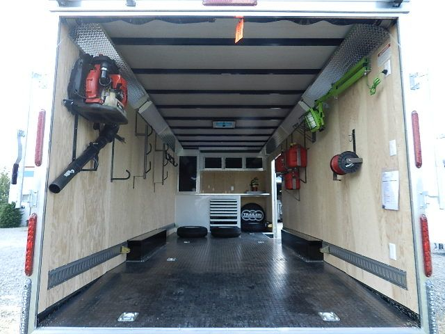 Image result for enclosed trailer organization - CarMate 8.5 X 22 Enclosed Landscape Trailer Equipment Trailer