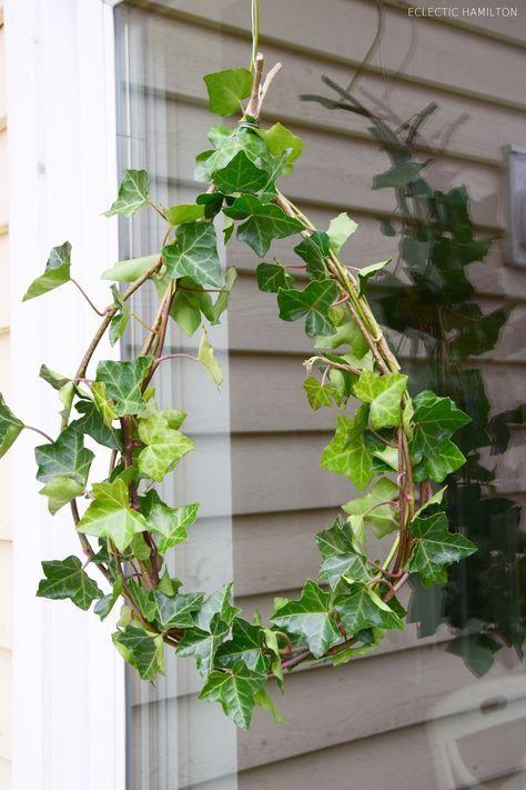 Diy herbst winter efeu kranz deko garten diy ivy und fall decor - Dekoideen gartenparty ...