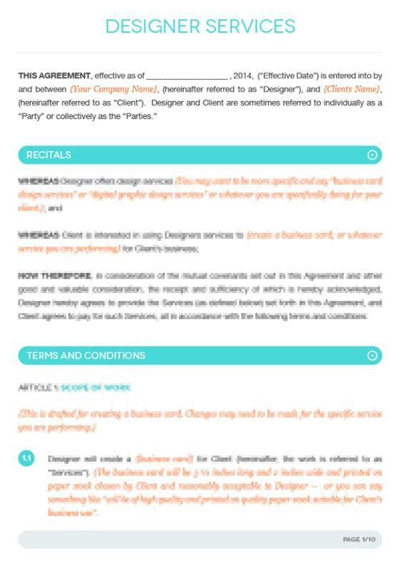 Fashion Designer Contract Template Google Search Design Contract Template Contract Template Graphic Design Contract Templates