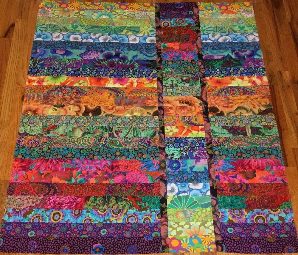 Kaffe Fassett Strip Flip Quilt Top 41 1 2 X 48 Made In Nc Quilt Patterns Kaffe Fassett Quilts Quilt Pattern Book