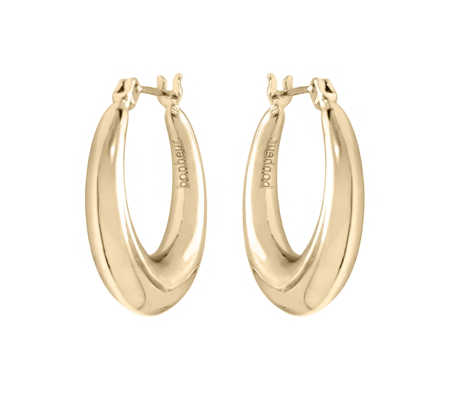 Gold Puffed Hoop Earrings In 2021 Gold Earrings For Women Small Gold Hoop Earrings Mini Hoop Earrings