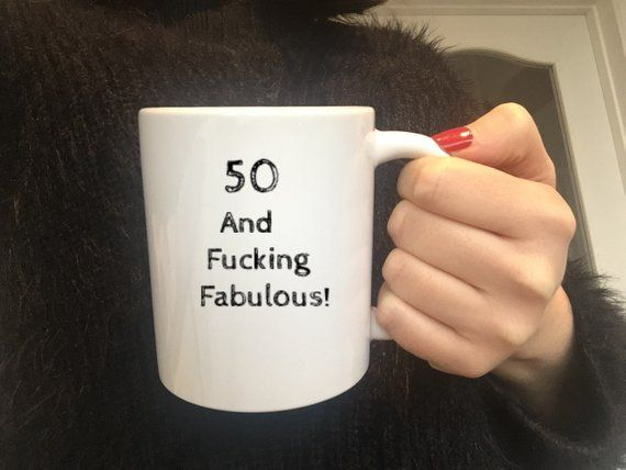 50th Birthday Mug50th Gift SisterWifeFucking FabulousCoffee Cup50th Party Present50th Best GiftsBirthday 50 Year Old