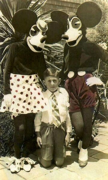 Mickey and Minnie Mouse costumes, 1930s. | Weird & Creepy ...