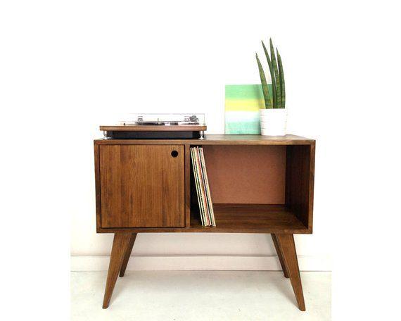 Vinyl Schallplatte Lagerung Mitte Jahrhundert Moderne