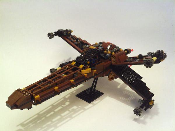 Custom Steampunk LEGO Star Wars X-Wing