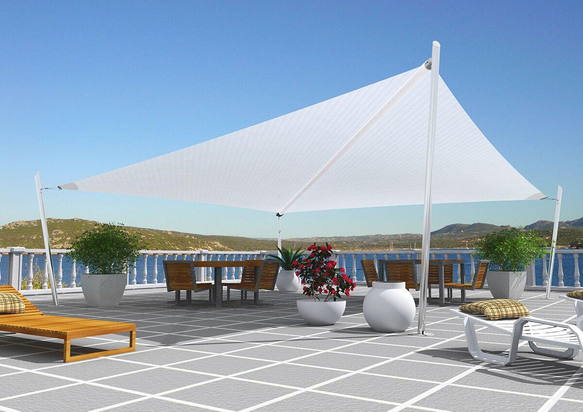 Toldos coberti toldo vela de sombra en terraza toldos for Toldos para patios