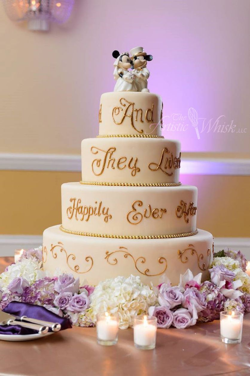 The Artistic Whisk Llc Classic Wedding Cake Disney Wedding Cake Gold Wedding Cake