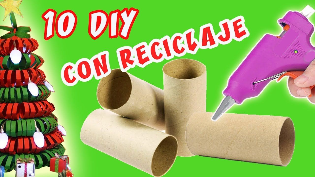10 manualidades para navidad con reciclaje decoraci n for Materiales para manualidades navidenas