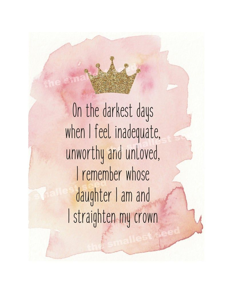 Quotes Printable I Straighten My Crown | Etsy