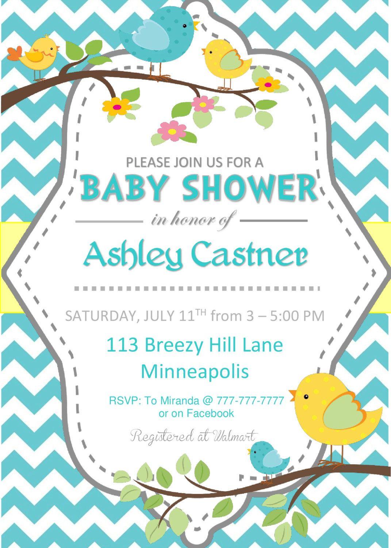 Baby Shower Invites Girl