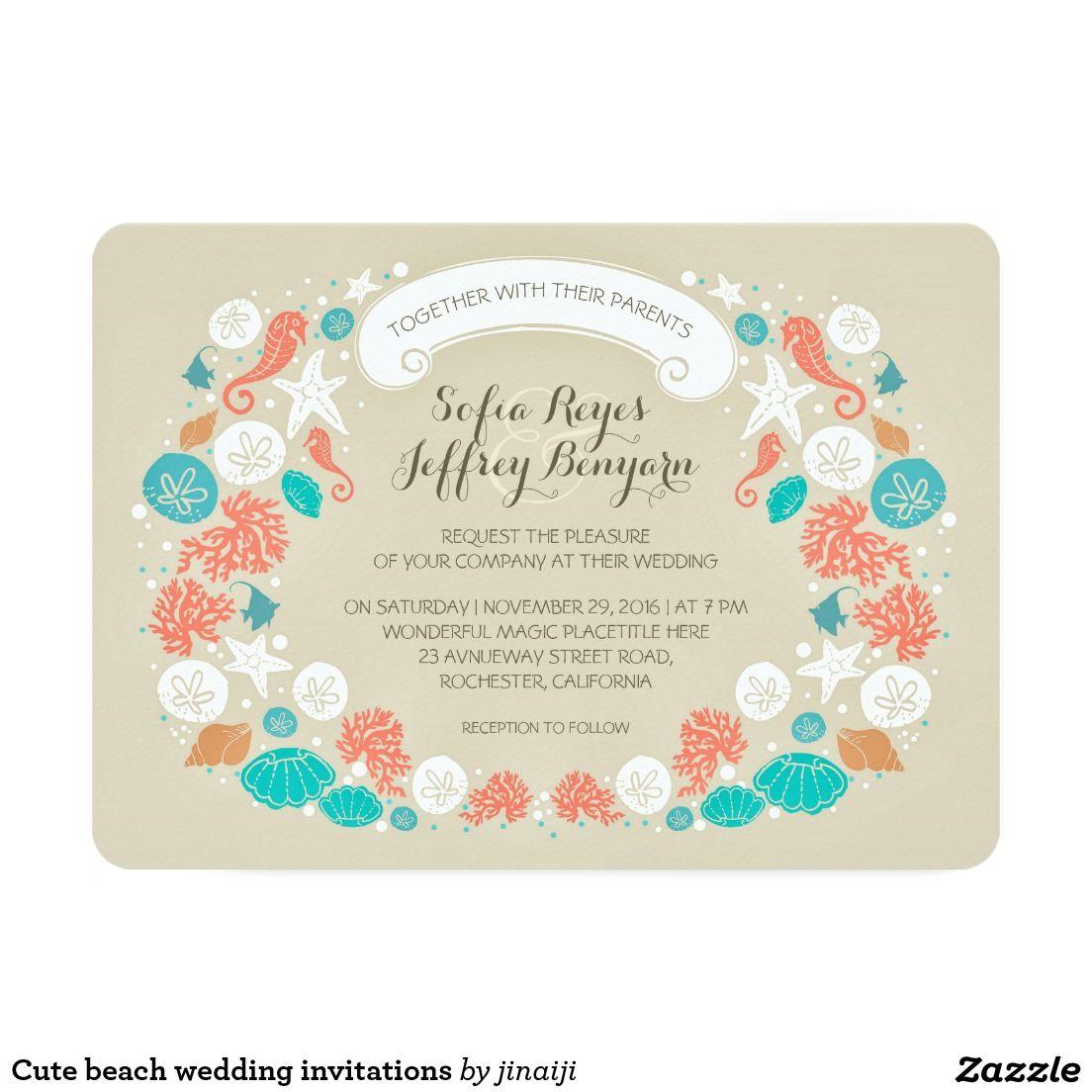 Cute beach wedding invitations | Creative Wedding Invitations ...