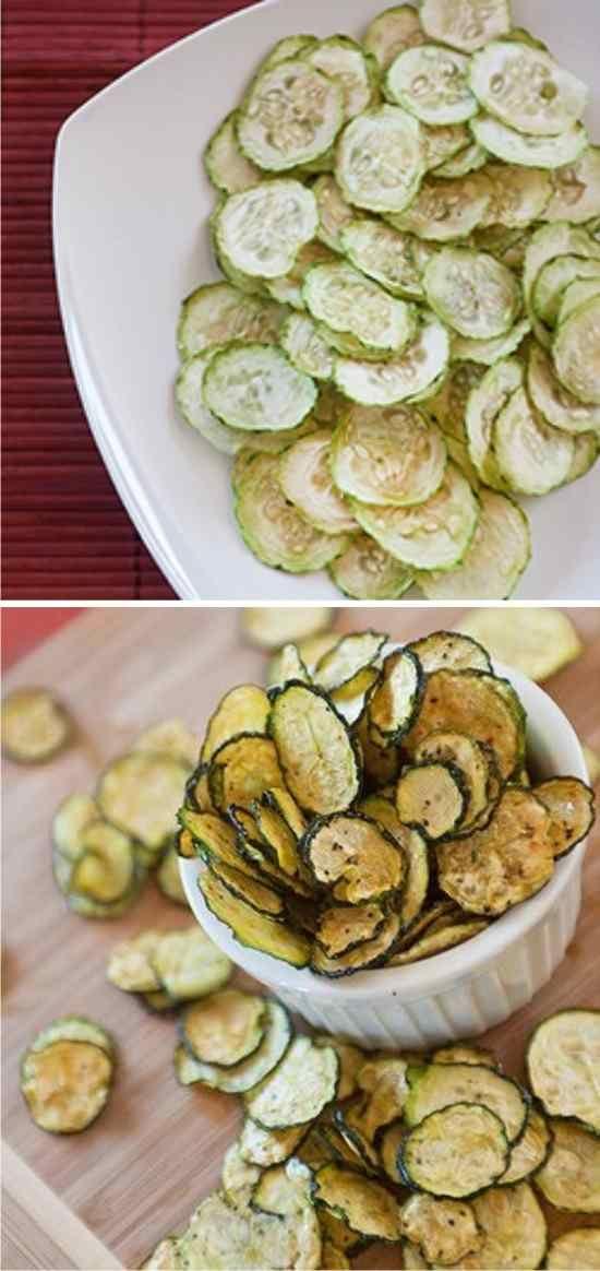 Dehydrated Zucchini Chips - apple, crispier, dehydrator, healty, pepper, recipes, zucchini