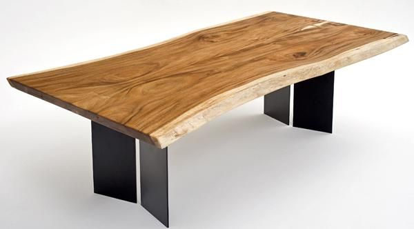 Lovely Natural Wood Furniture Slab Dining Table By Woodland Creek Furniture