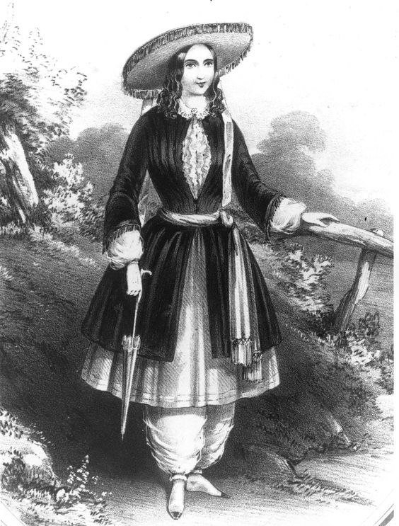 Photo of BOMBACHOS 1851 Libby Miller (attivista del New England) Pantaloni larghi, con …