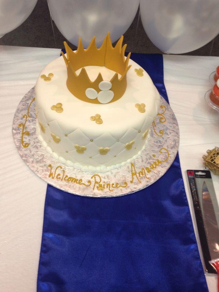 Prince Mickey Baby Shower | Prince Mickey Baby Shower Cake | Baby |  Pinterest
