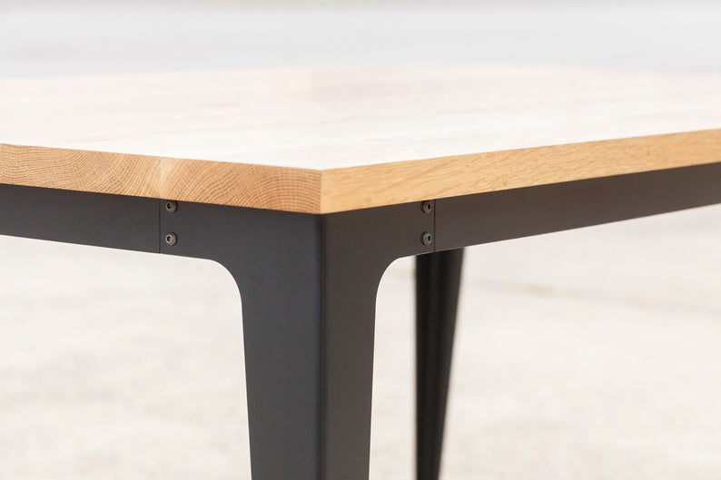 The Enfield Splayed Table Base Powder Coated Steel Metal