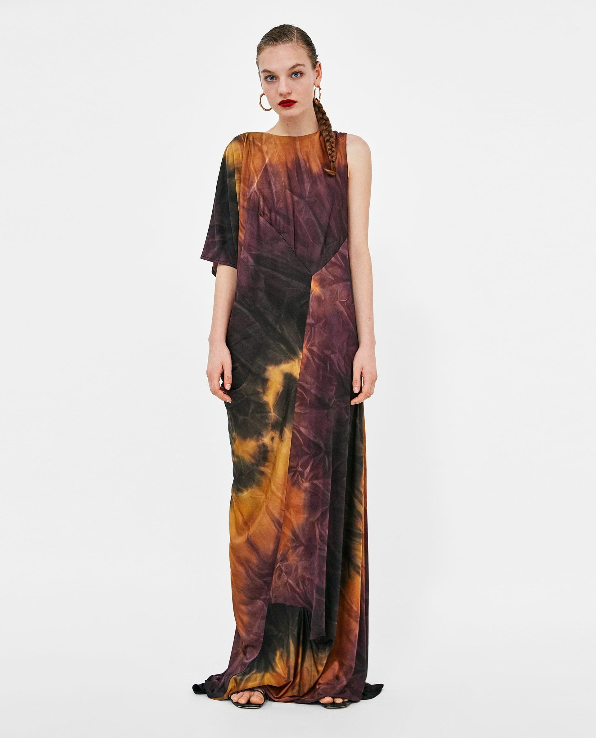 7dd31053 Tie-Dye Maxi Dress // 69.90 USD // Zara // Flowing maxi dress with ...