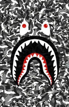 Bape Camo black whait Bape wallpaper iphone, Bape