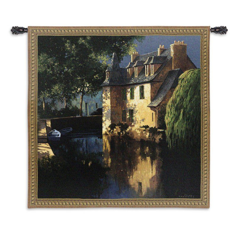 Fine Art Tapestries Little Canal Annecy Wall Tapestry - 2882-WH