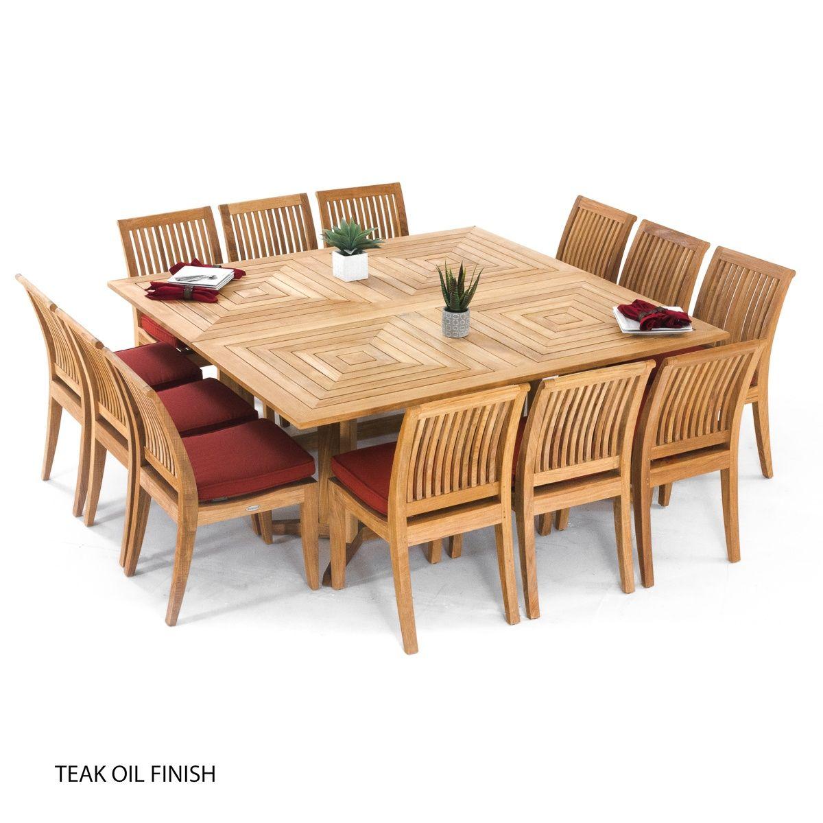 Large Teak Dining Set For 12 People