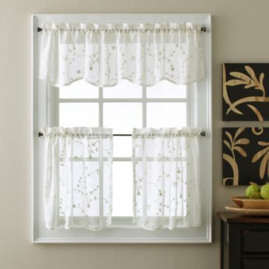 Eliminaire® Naples Sheer Kitchen Curtains found at @JCPenney ...