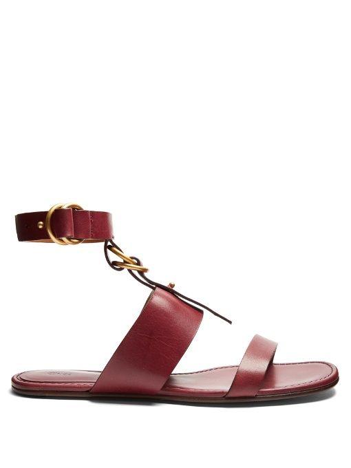 05451f7999e Chloé Kingsley leather flat sandals