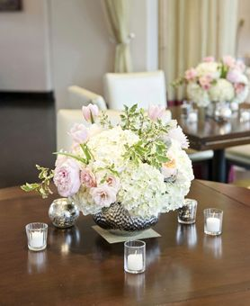 Pink and Peach Wedding Centerpiece at Stoneleigh T/X
