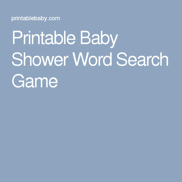 Printable Baby Shower Word Search Game  Parent Printables