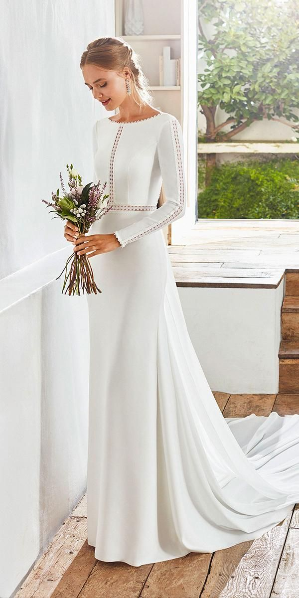 Photo of 18 Of The Most Graceful Simple Wedding Dresses With Sleeves | Wedding Dresses Gu…