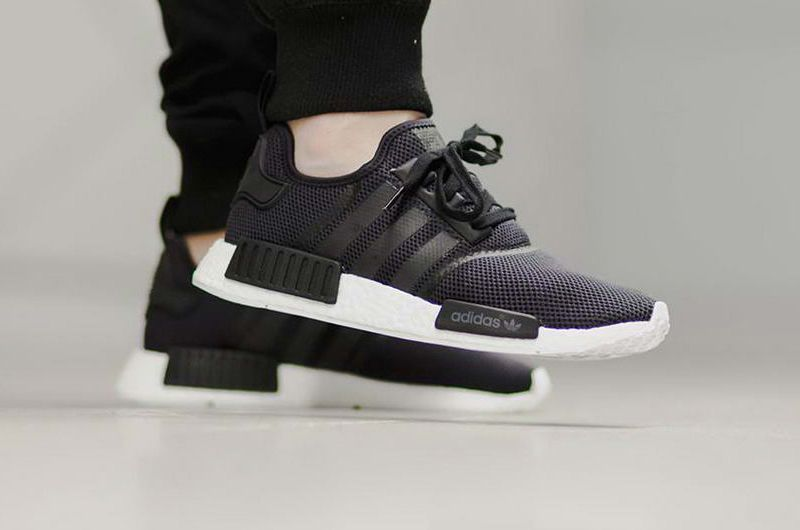 30d0b2591cca7 S79165 adidas NMD R1 Tripple Black White On Feet