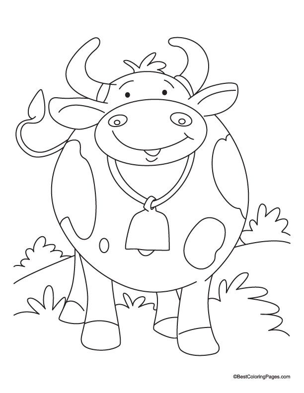 princess of milk land cow colouring pages embroidery idea