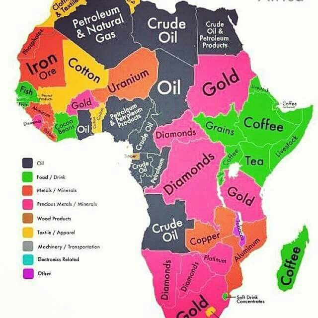 African resources by nation. | World Travel | Crude oil