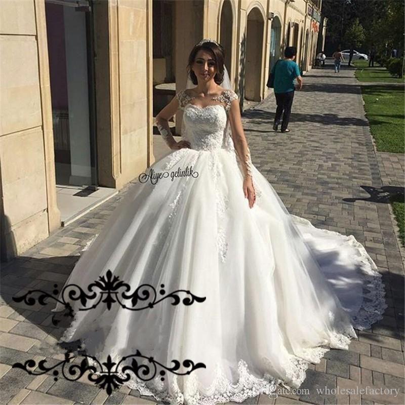 Neue Luxuxlange Hülsen Arabische gesagte Mhamad Hochzeits-Kleider ...