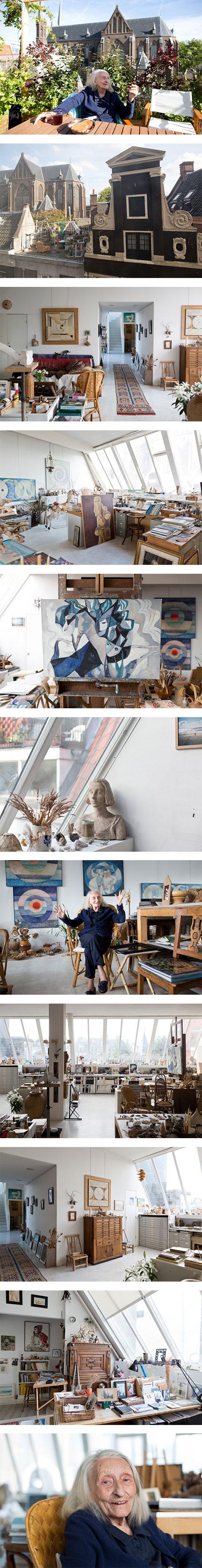 Gisèle d'Ailly van Waterschoot van der Gracht's apartment in Amsterdam on Nuji.com #freundevonfreunden #inspiration #homedecor