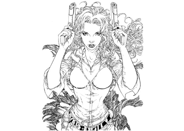 sexy adult coloring pages anita colouring pages