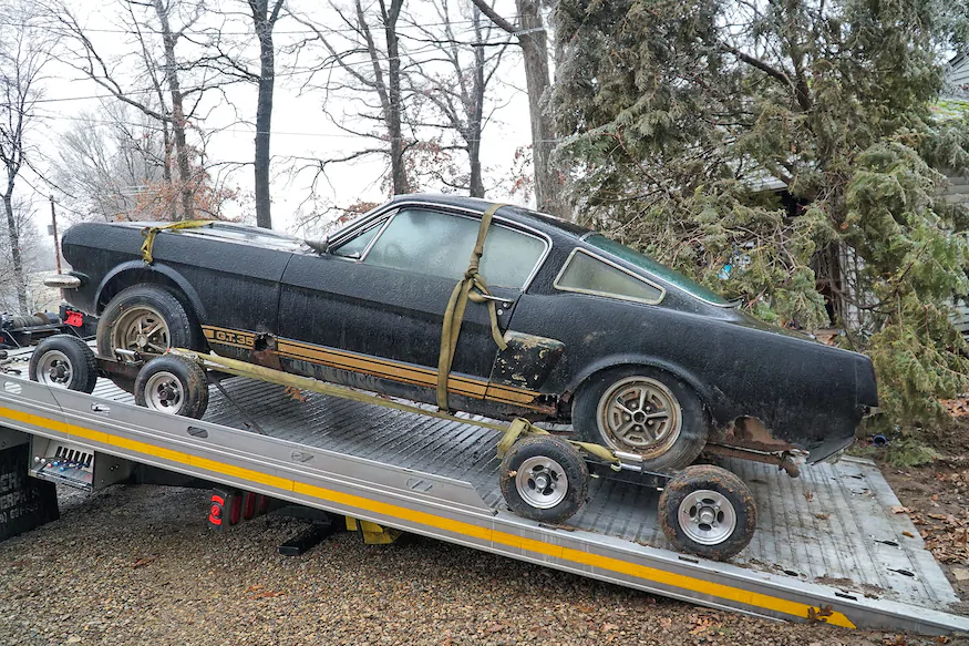 Rare 1966 Mustang Shelby Gt350 H Rental Car Literally Dug Out Of Yard Shelby Car Rental Mustang Shelby