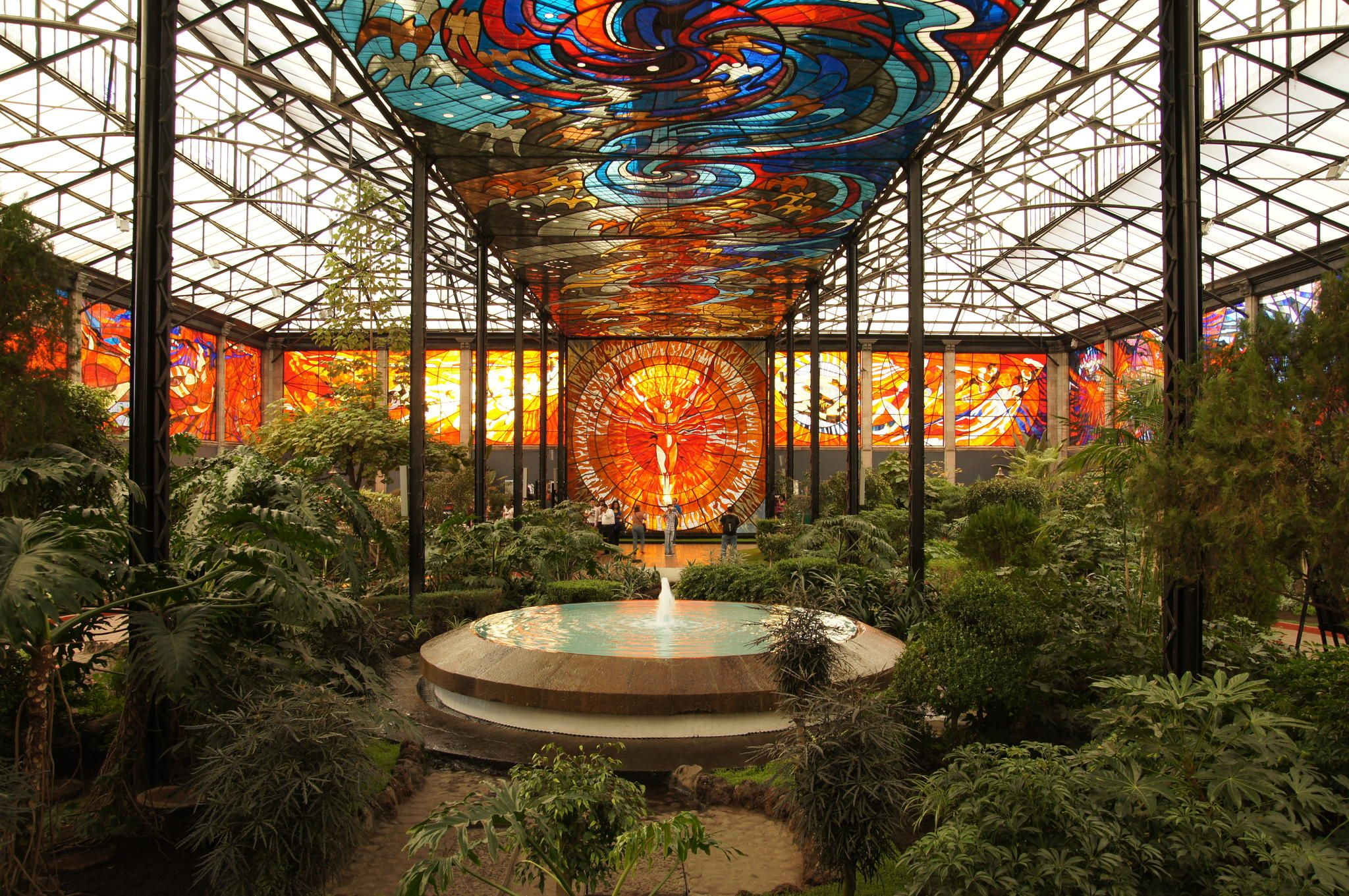 cosmovitral in toluca mexico 30 captivating ceilings that would
