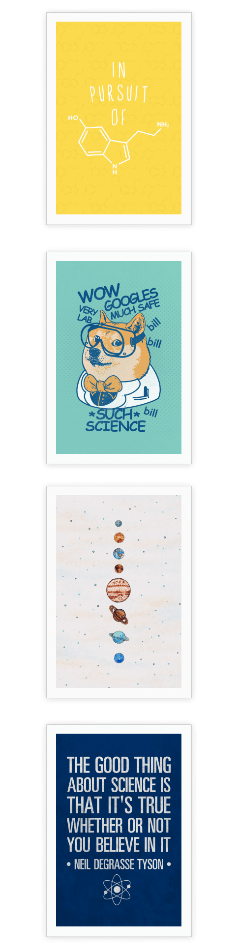 These cool science posters are perfect for your apartment for Cool posters for your room