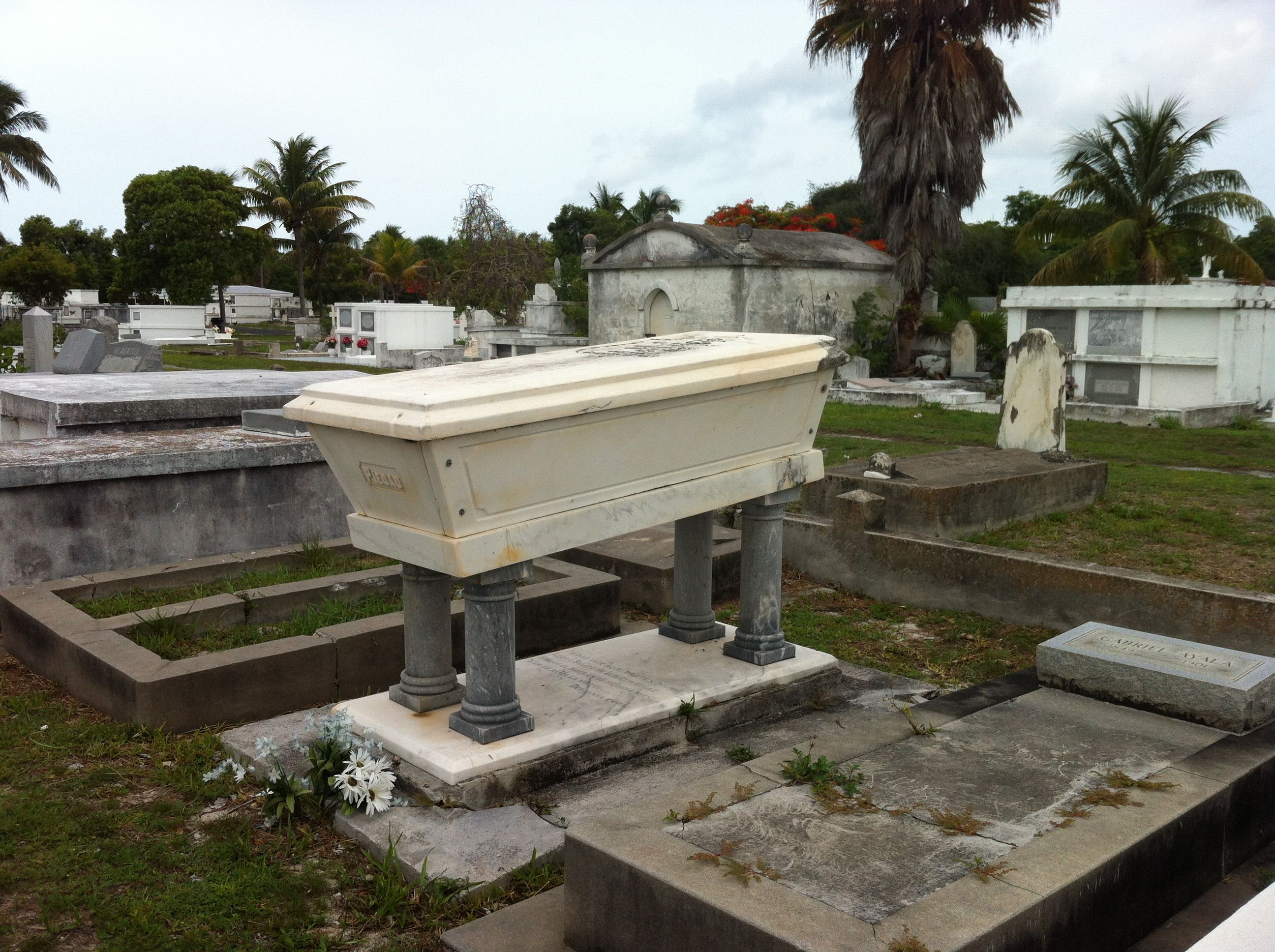 Piedad Ayala  Daughter of Cuba's national anthem composer in Key West Historical Cemetery 2013