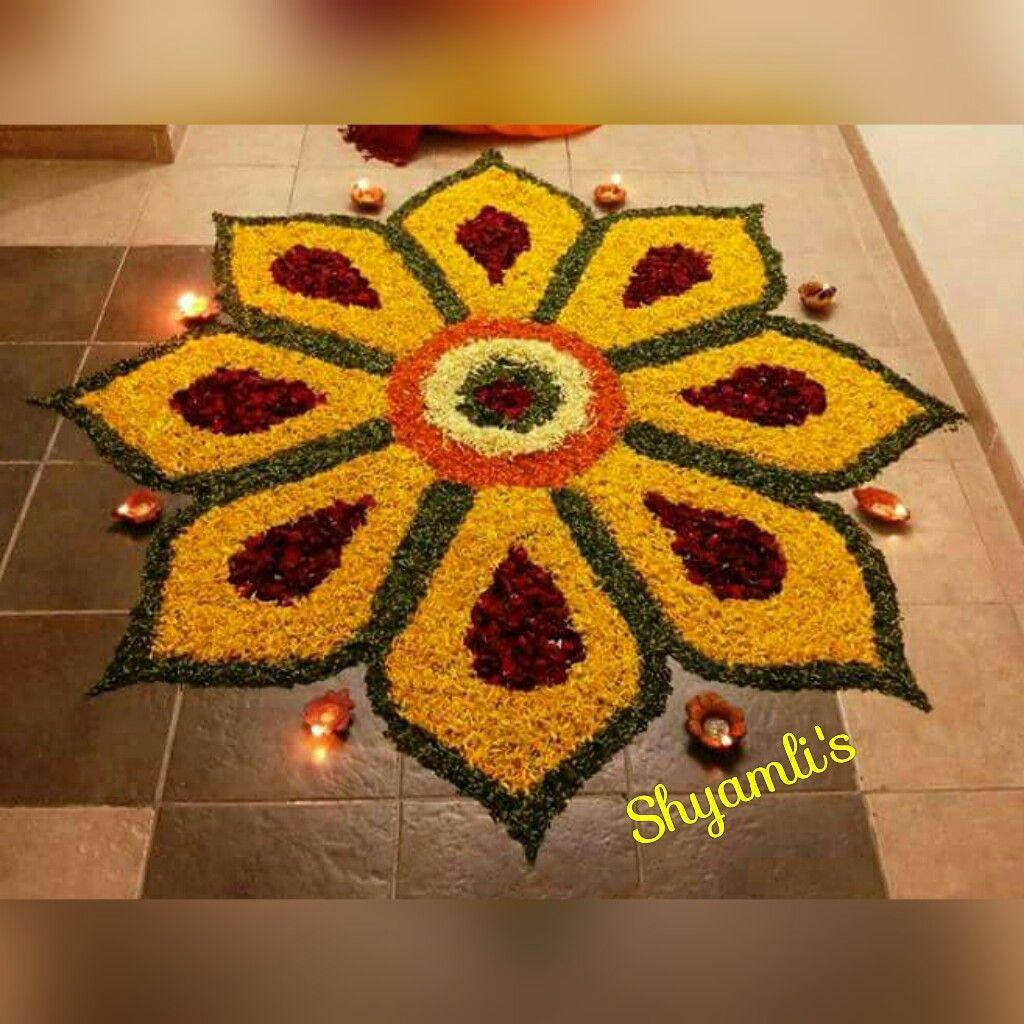 Flower Rangoli For Festival Rangoli Designs Flower Diwali Design Easy Rangoli Designs Diwali