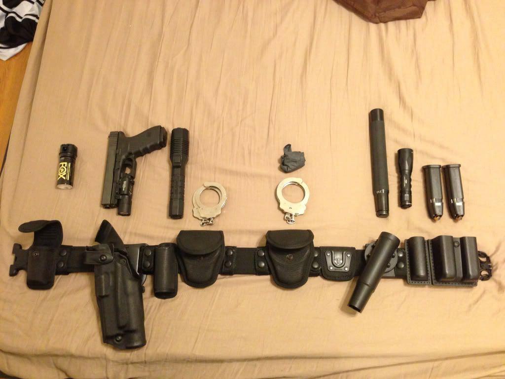 Duty belt picture thread - Calguns net | Past Shows | Police duty