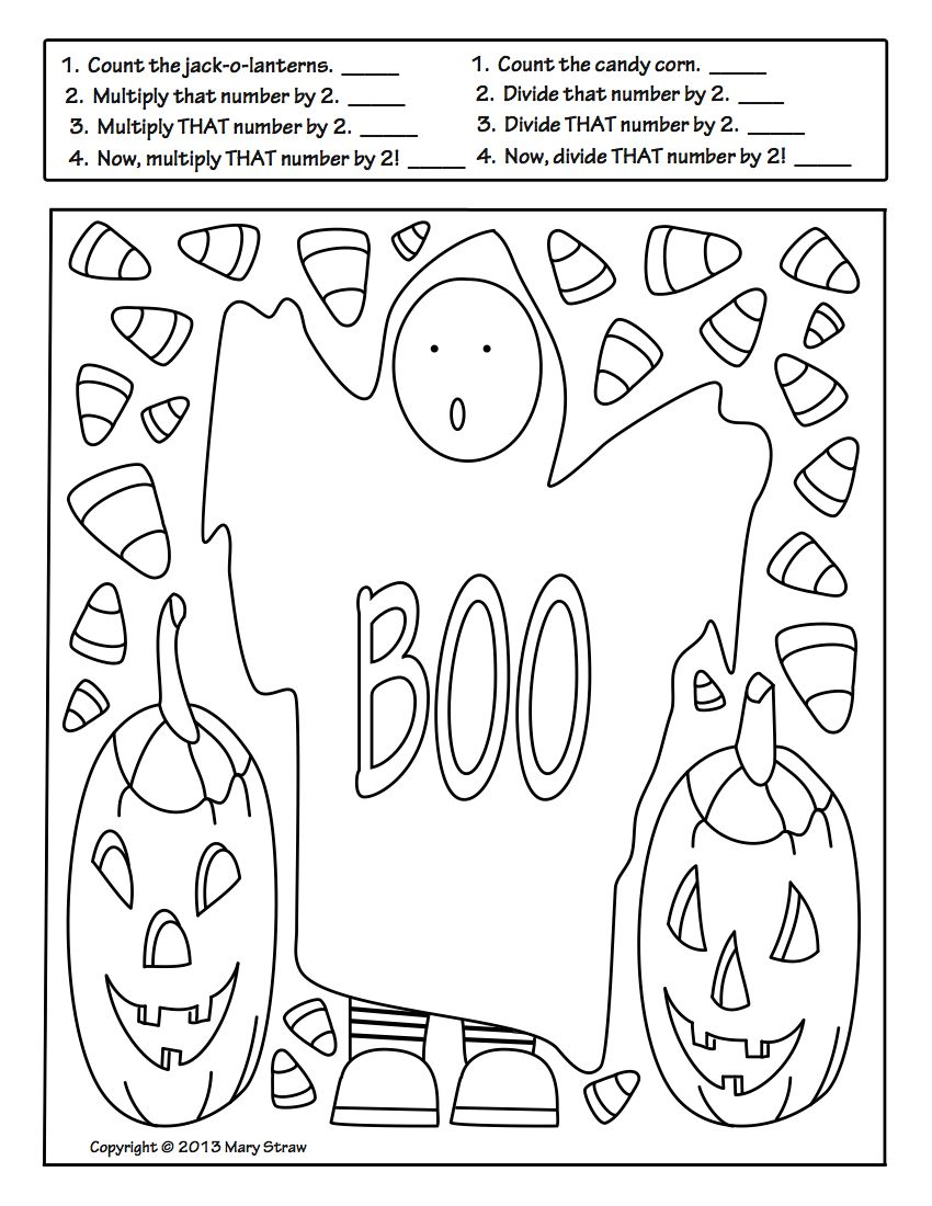 Halloween Activity Coloring Pages in 2020 Halloween