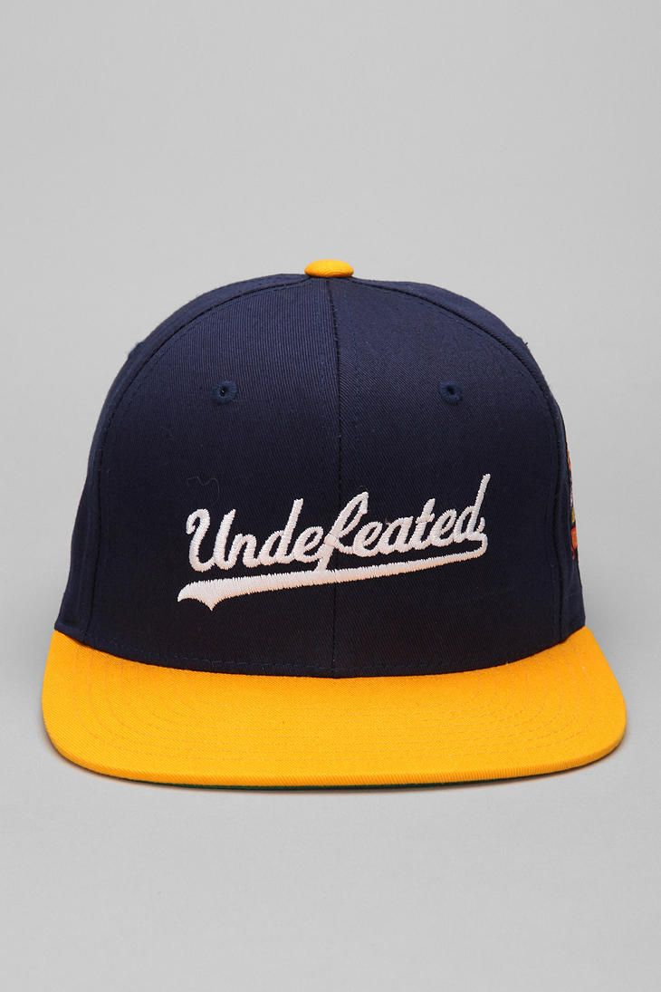 d8b7c4f3372d5 Undefeated Script Starter Hat  UrbanOutfitters Gorras