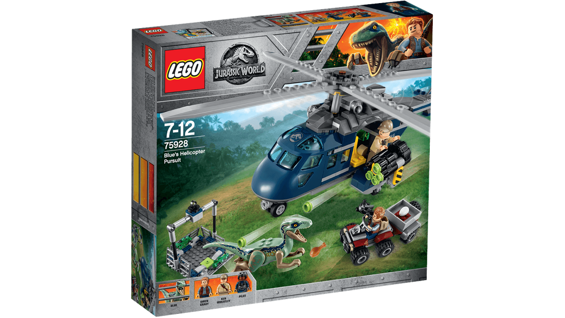 LEGO JURASSIC WORLD BLUE/'S Elicottero Pursuit 75928